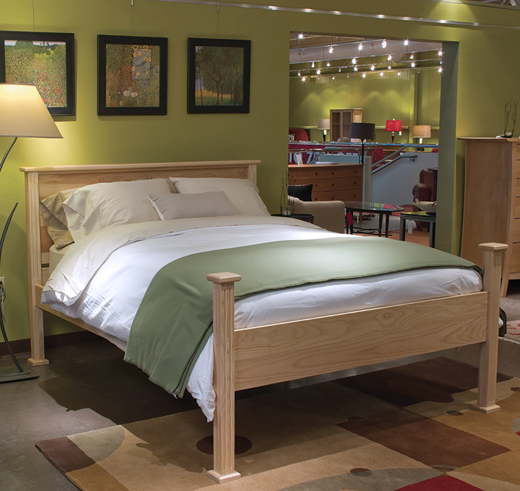 solid wood platform bed in maple hardwood from VT