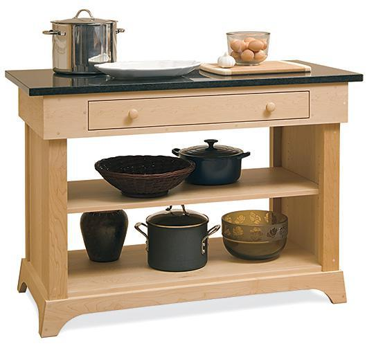 solid wood kitchen prep table handcrafted in VT