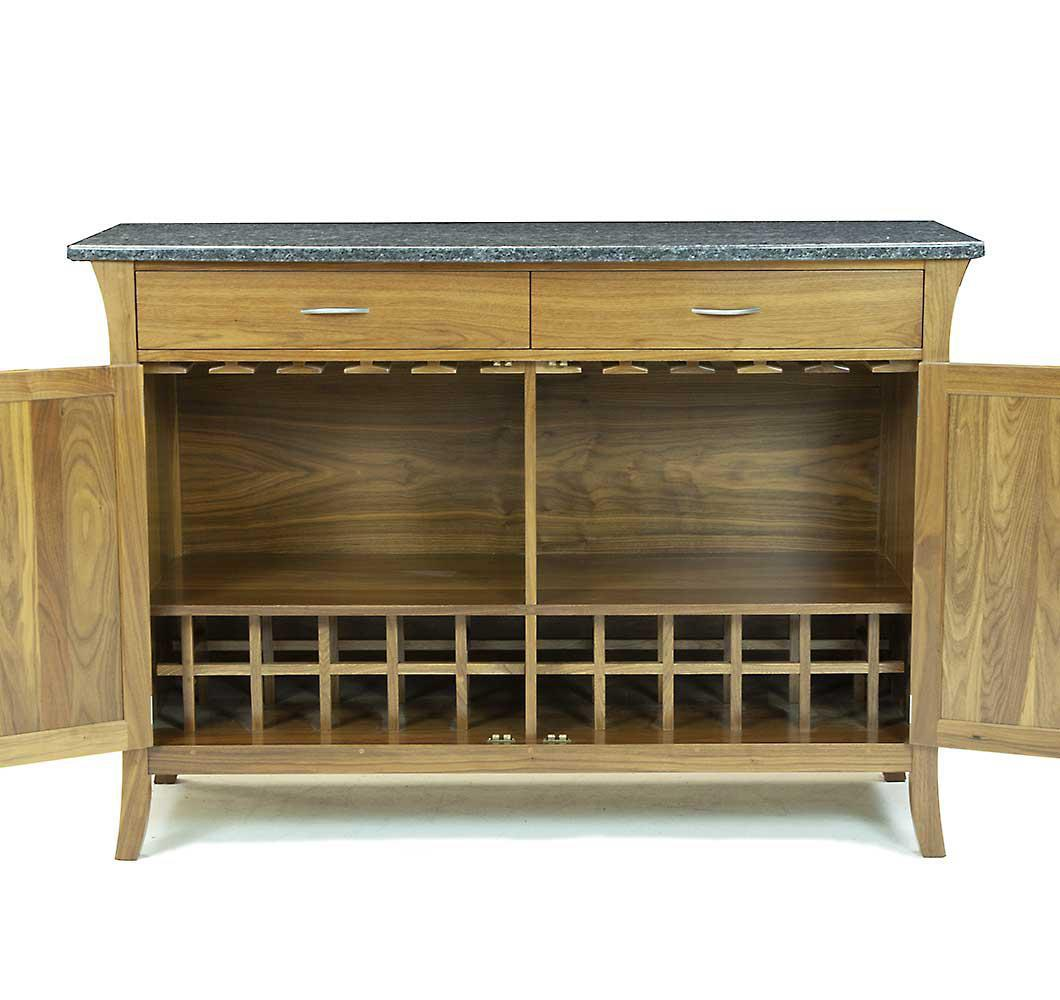 Vernon WIne Buffet in solid walnut