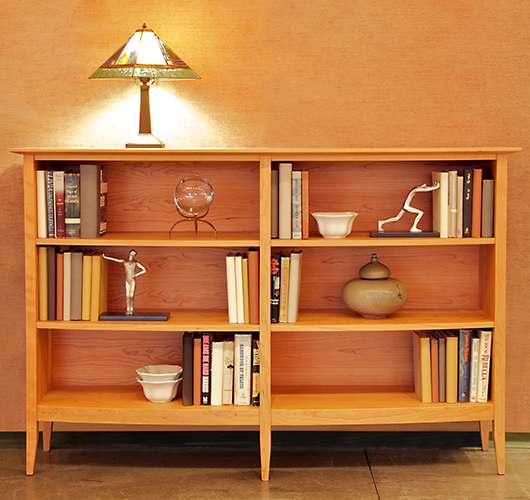 solid wood bookcase handcrafted in Vermont