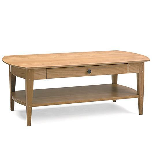 solid wood cherry coffee table handcrafted in VT