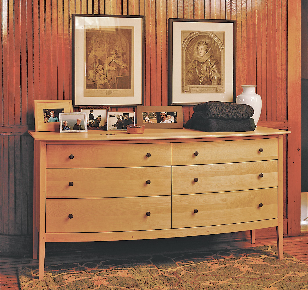 solid wood bedroom dresser handmade in Vermont.