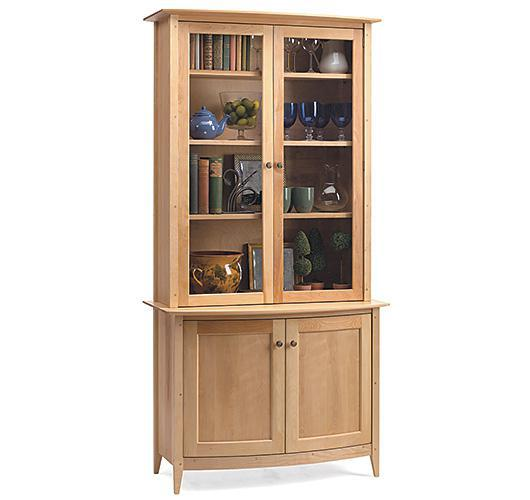 solid wood cabinet and bookcase handcrafted in VT
