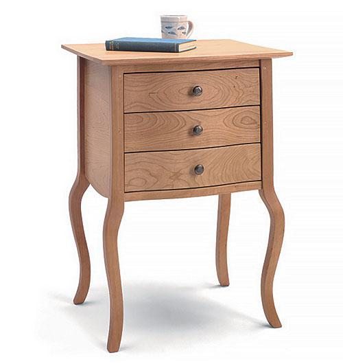 contemporary handcrafted solid wood nightstand