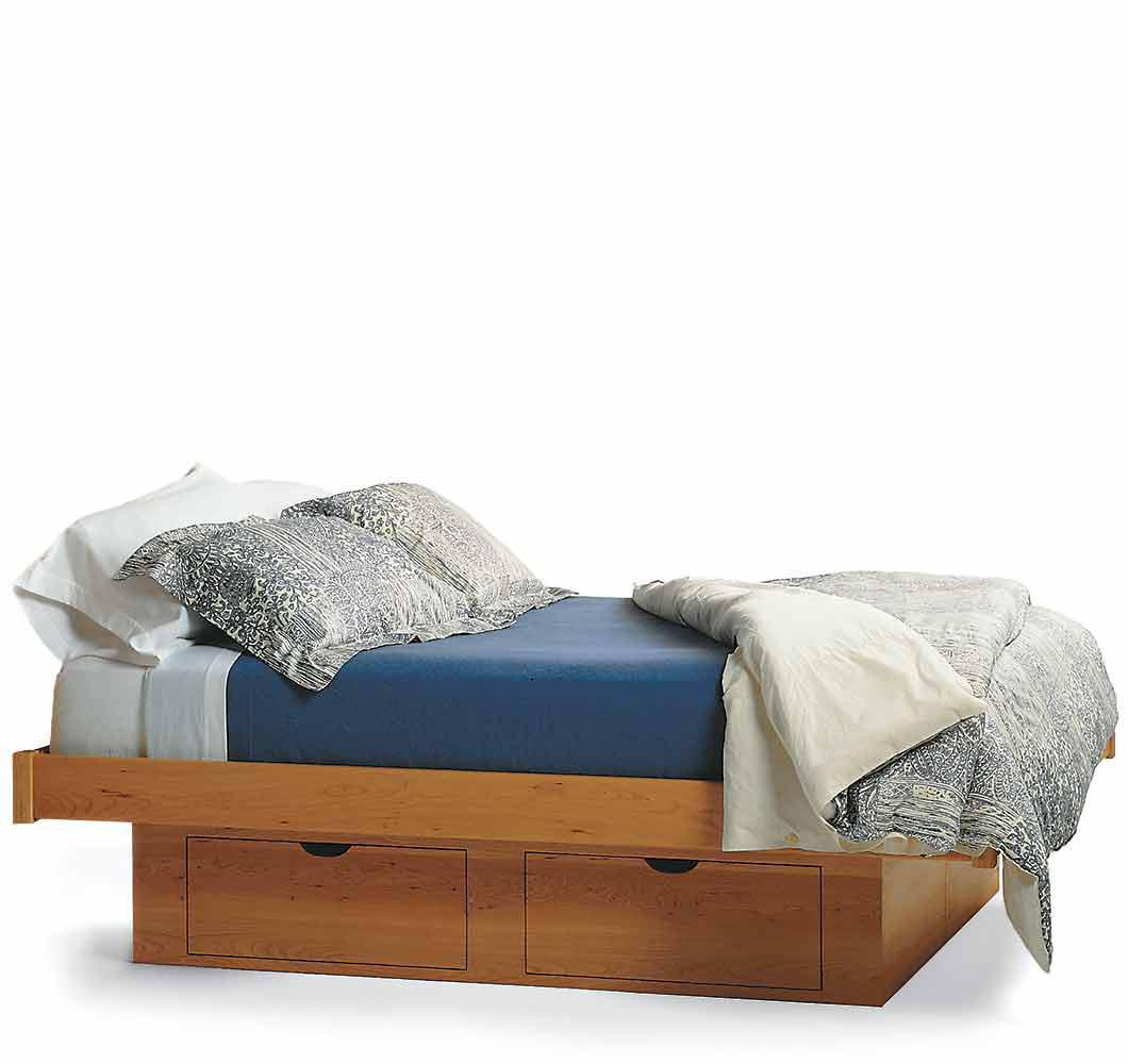 Platform storage bed bookcase platform storage bed in for Floating platform bed with storage