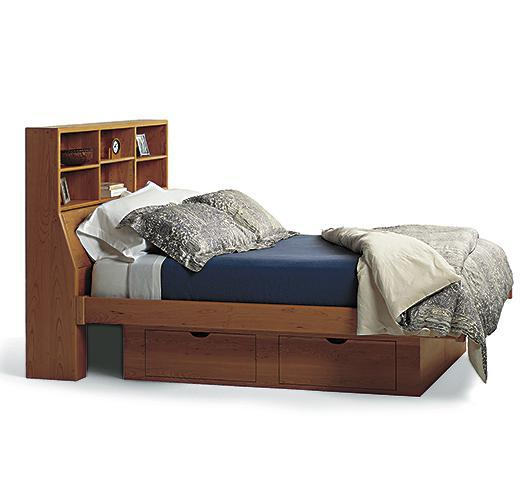 solid wood storage bed handcrafted in Vermont