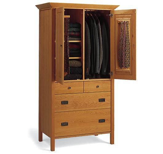 mission style solid wood bedroom armoire from VT