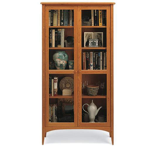 shaker style bookcase with doors handcrafted in VT
