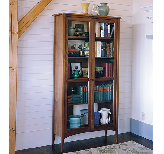 Solid wood New England Bookcase