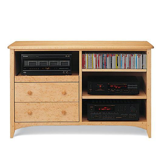 Solid wood New England Audio Center