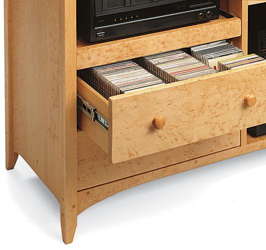 solid wood audio center handcrafted in Vermont