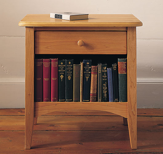 Shaker style night table handcrafted in Vermont