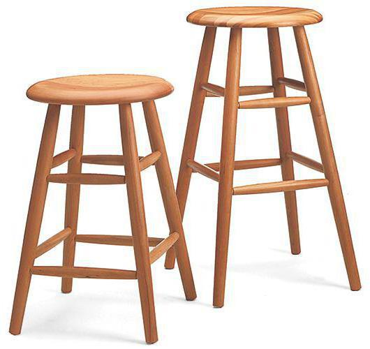 Solid Wood barstools Handmade in Vermont