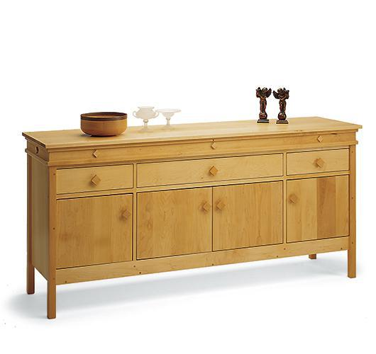 solid wood dining room buffet