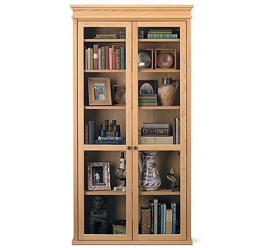 bookcase with glass doors handcrafted in Vermont