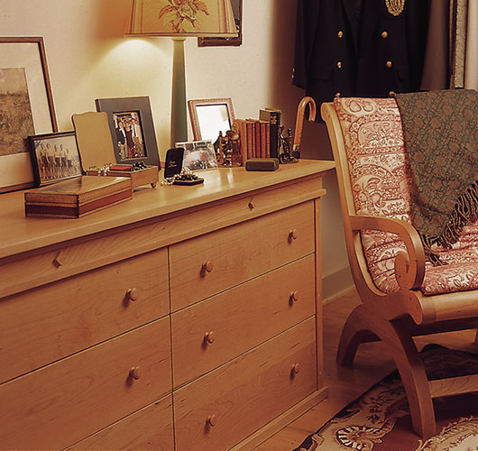 solid wood bedroom dresser handcrafted in Vermont