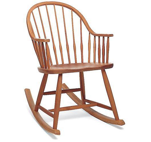 Solid wood rocking chair handcrafted in Vermont