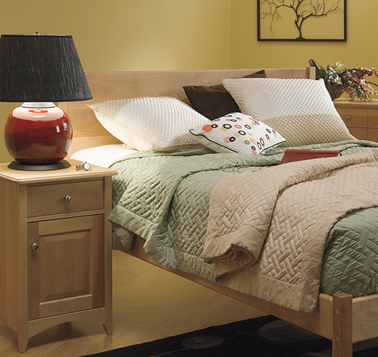 Platform Bed in solid wood handcrafted in Vermont