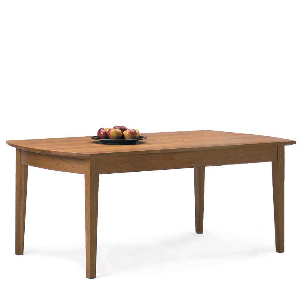 Solid wood cherry dining table made in Vermont