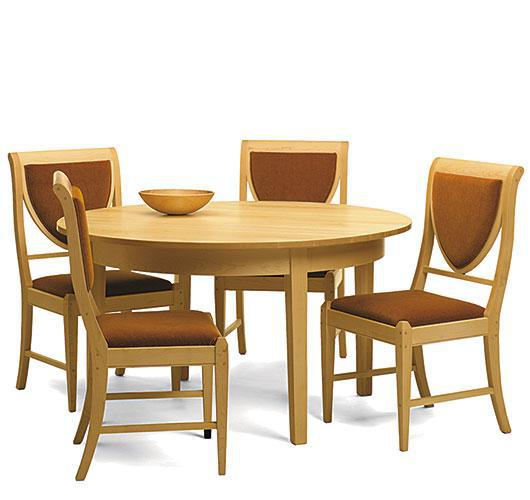 Solid wood birch dining table made in Vermont