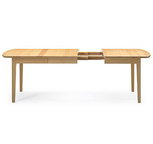 Solid wood extension dining table made in Vermont