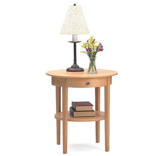 solid wood cherry end table handcrafted in Vermont