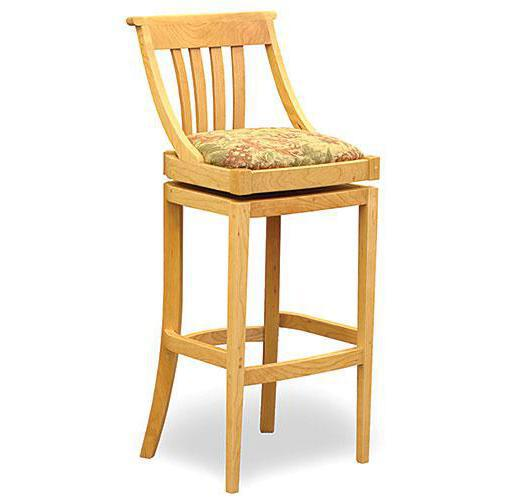 solid wood barstool swivel made in vermont