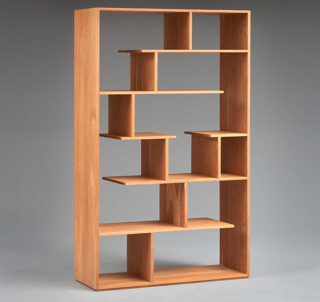 Averill Room Divider in sold cherry wood.