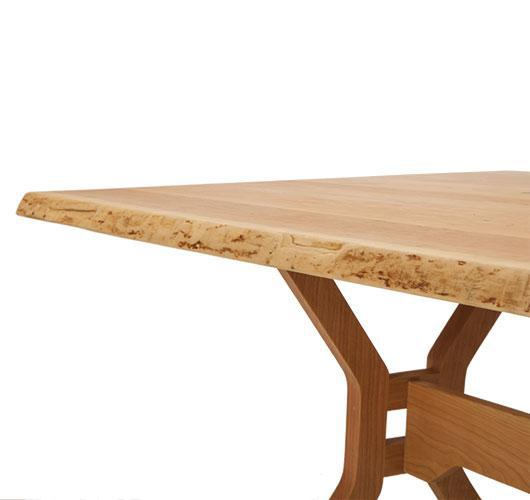 solid wood live edge dining room dining table.
