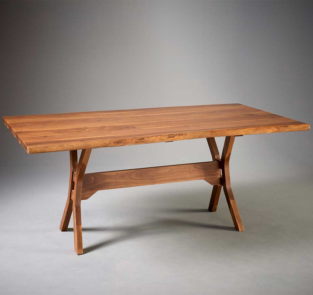 dover live-edge dining room table