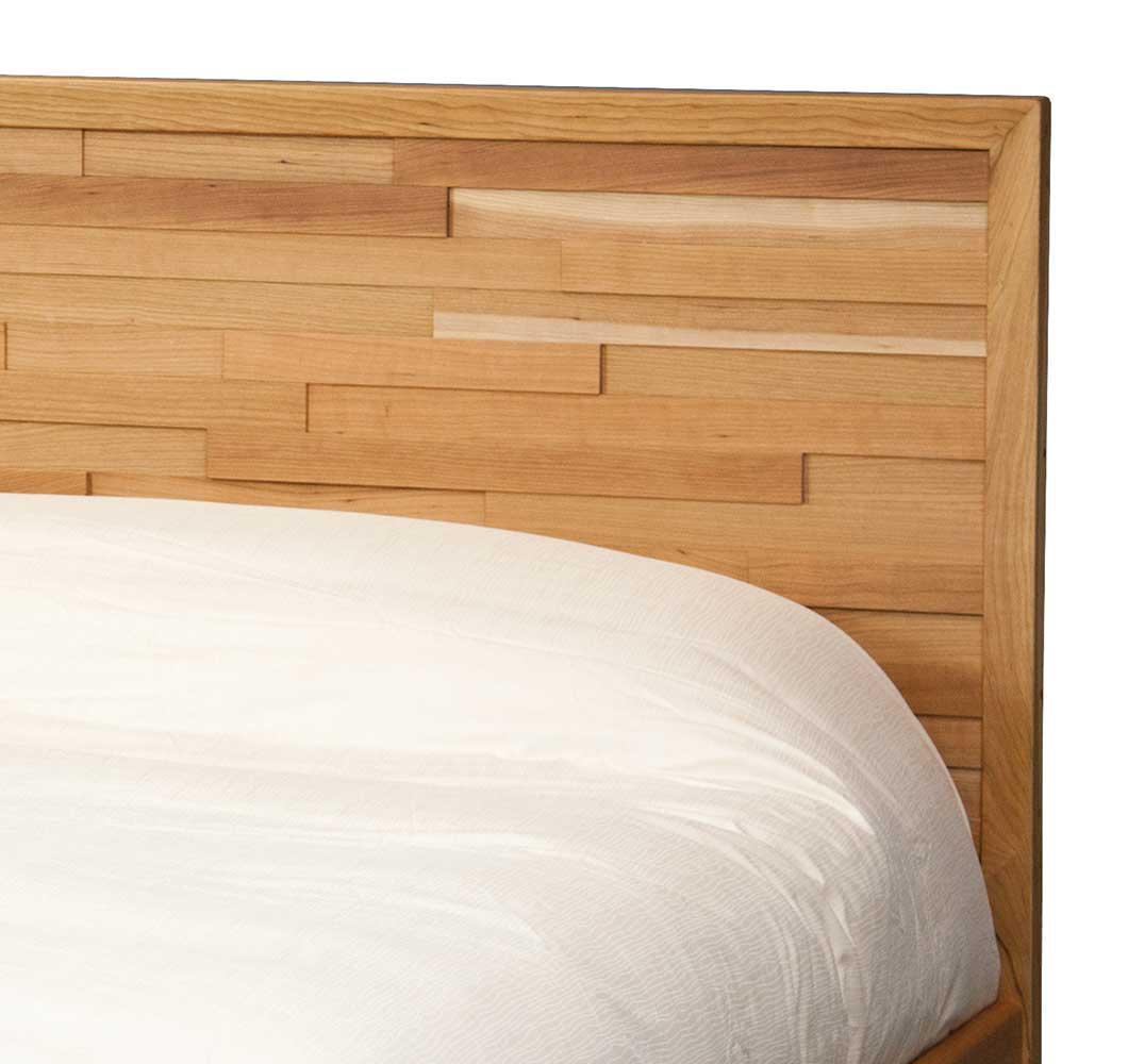 corinth bed queen size in solid cherry