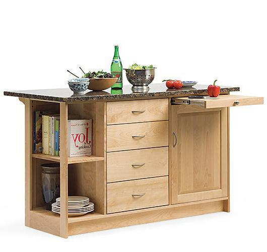 solid wood kitchen island handcrafted in Vermont