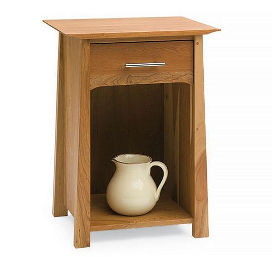 Solid wood Asian style night table from Vermont