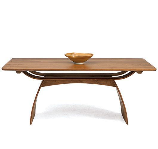 solid wood walnut dining table made in Vermont