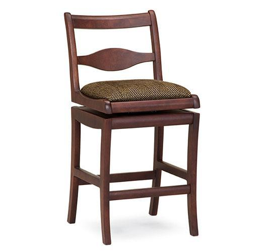 solid wood barstool swivel  handmade in Vermont