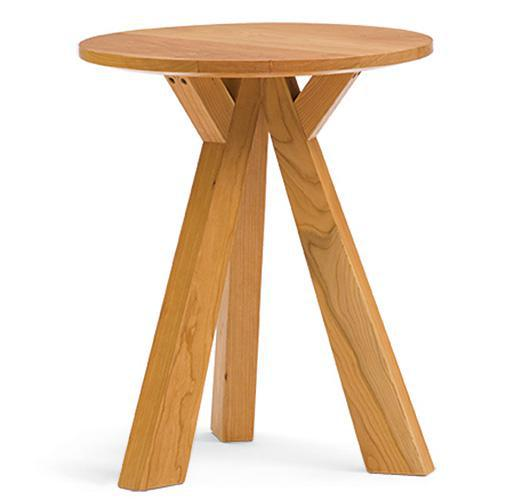 solid wood end table handcrafted in Vermont