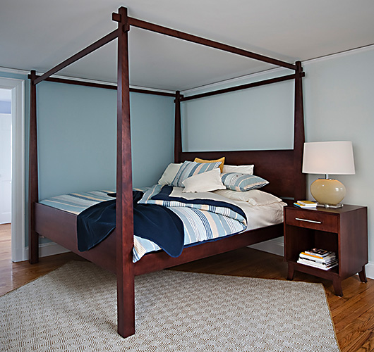 hardwood bed handcrafted in Vermont