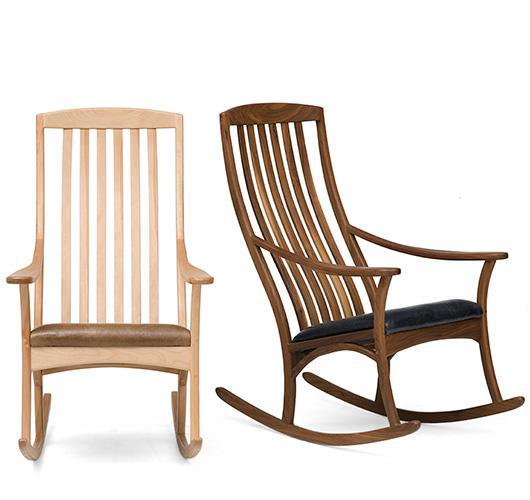 solid wood rocker handmade in Vermont