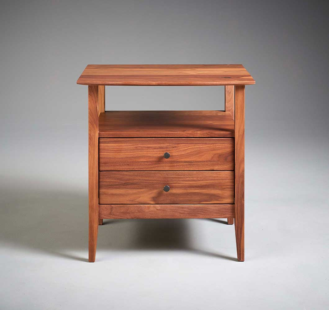 Shaker Style solid wood night table made in VT