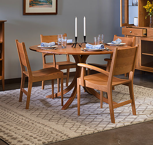 Solid Cherry Wood Dining Room Dining Table From VT