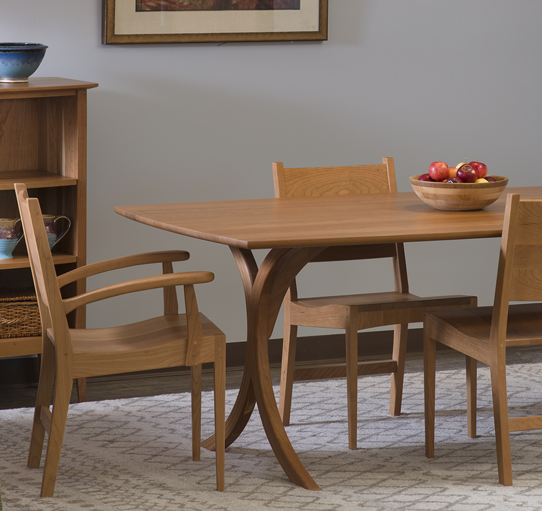 handcrafted solid wood vermont made dining table